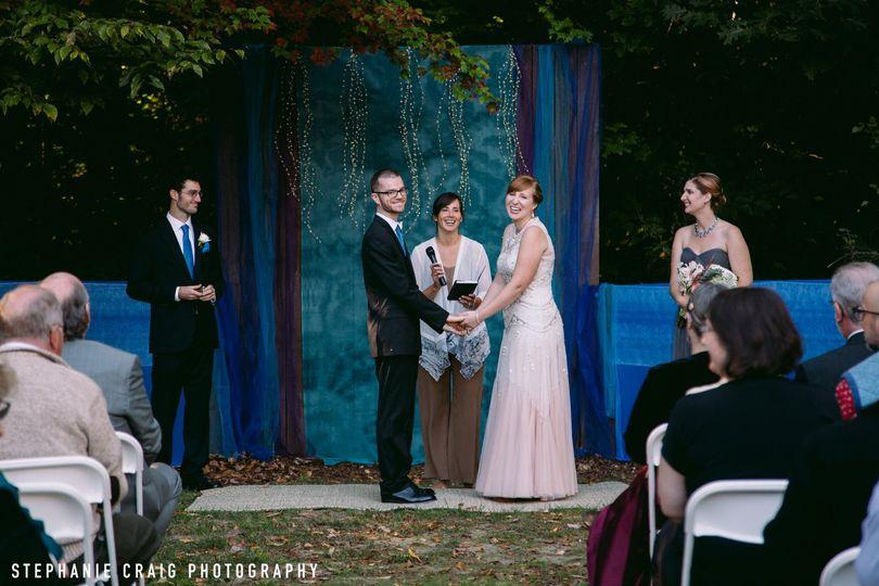 Camp Wedding Ceremony at Camp Howe, Goshen, MA