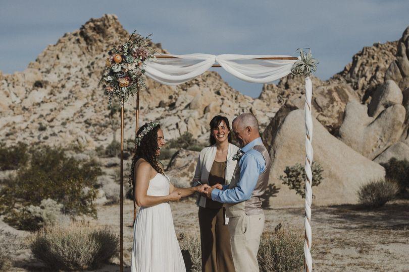 Desert Elopement Wedding Ceremony in Joshua Tree, CA