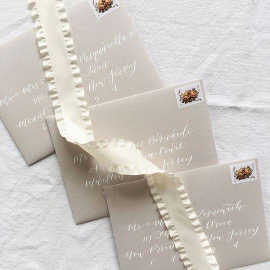Beige envelopes