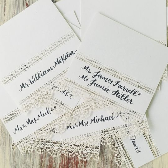 Lace name plates