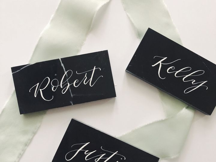 Tmx 1521250094 31cdd4ac9c993886 1521250092 Ef74093610d05326 1521250092492 7 Black Name Cards Hoboken, New Jersey wedding invitation