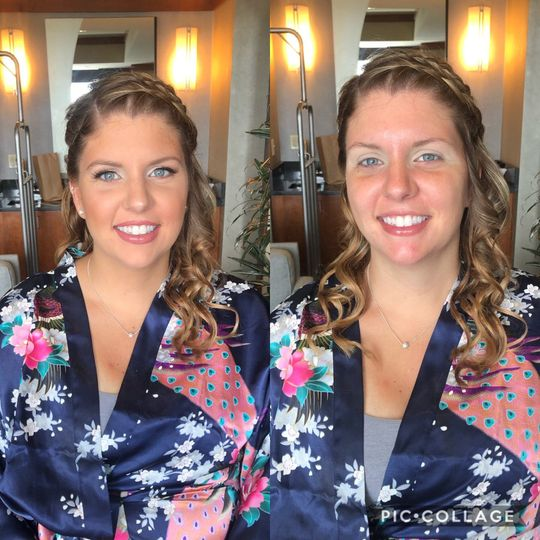 Bridal Party Before and After