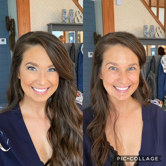 Bridal Party Before & After