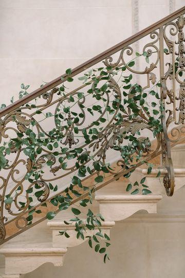 Greenery staircase