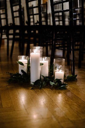 Candle aisle wedding