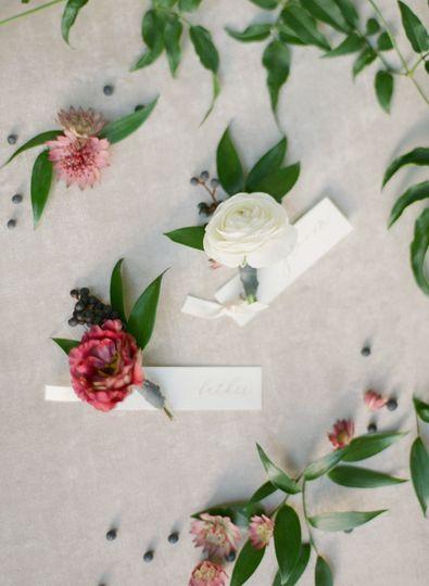 Mauve wedding flowers
