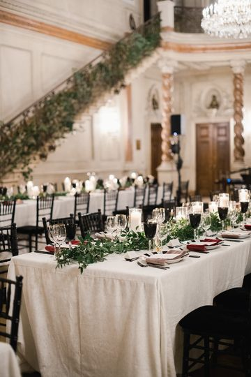 Greenery and candles wedding
