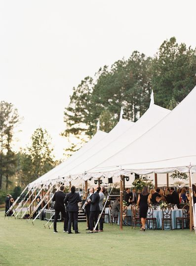 Lakeside wedding at the Reserve at Lake Keowee featured on Martha Stewart Weddings