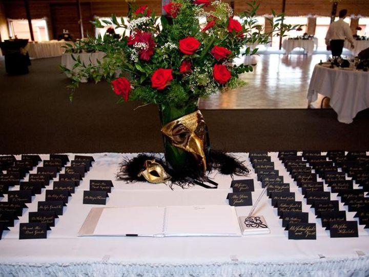 Tmx 1430011826506 Jacobsreception Place Card Table Crystal Lake wedding invitation