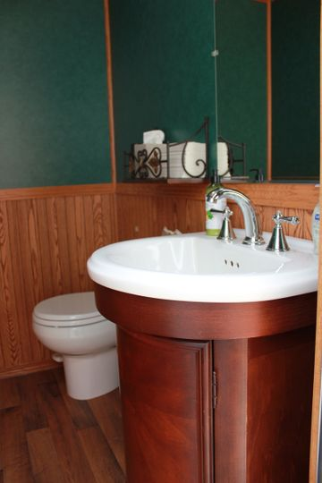 3-stall ADA trailer restroom