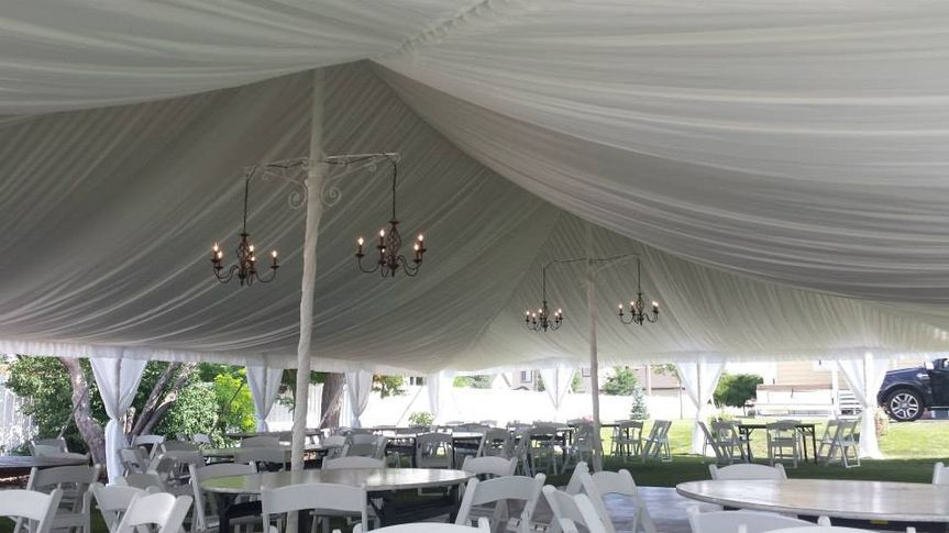 Ceiling Liner with Chandeliers
