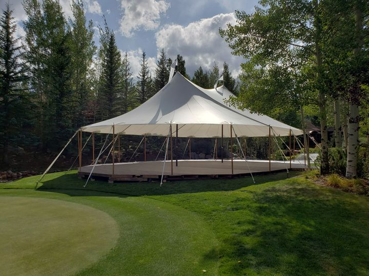 44x63 Sailcloth tent in Aspen