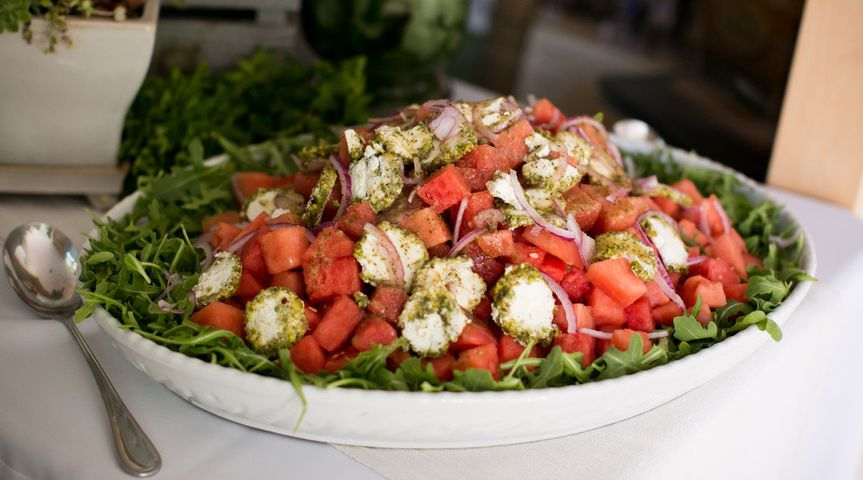 Delicious Watermelon and Goat Cheese Crusted Salad