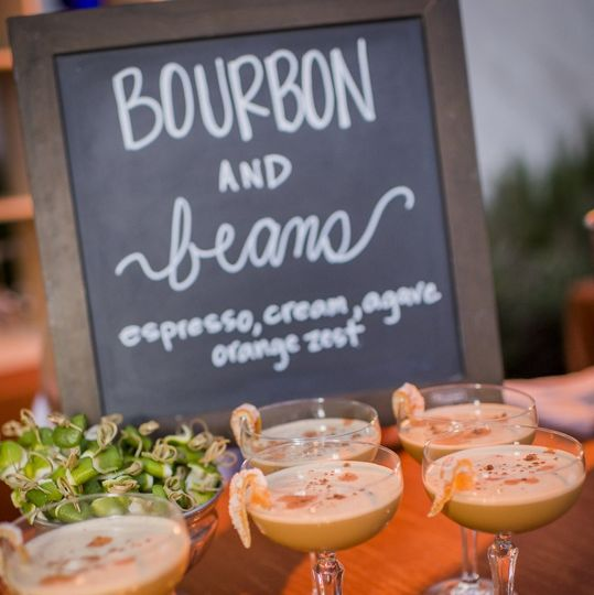 Specialty cocktail, bourbon & beans, photo by willa kveta