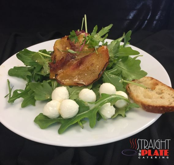 roasted peach salad with champaigne vinaigrette