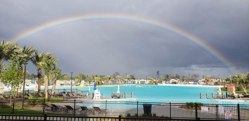 Rainbow over the lagoon