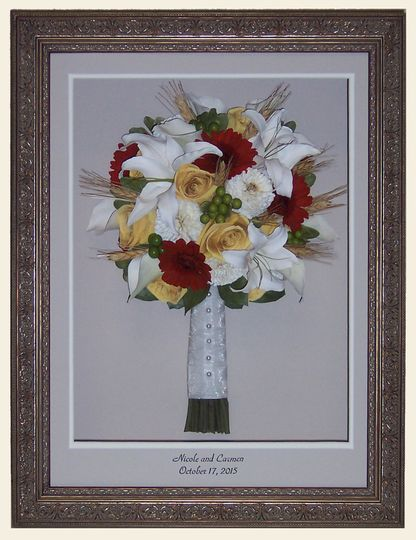 Bouquet on the frame