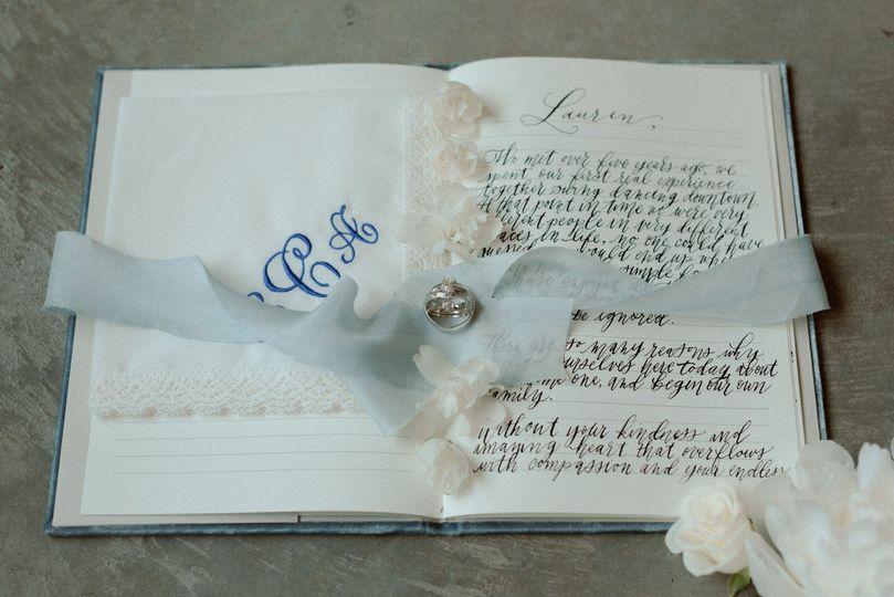 Hand Written Wedding Vows