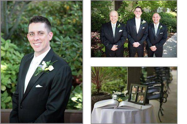 Eric and groomsmen at the Casa Garden Restaurant in Sacramento.