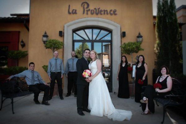 Zak & Misty with wedding party at the La Provence Restaurant & Terrace in Roseville.
