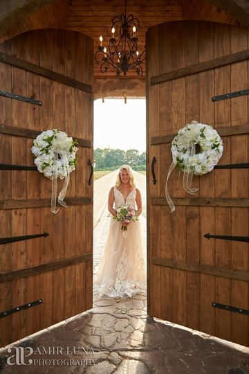 Bride at Castle Doors