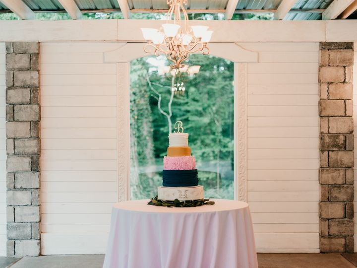 Tmx Cake Navy Pink Artists Way Creations Chateau Vie 51 1018098 157819366196404 Walnut Cove, NC wedding venue