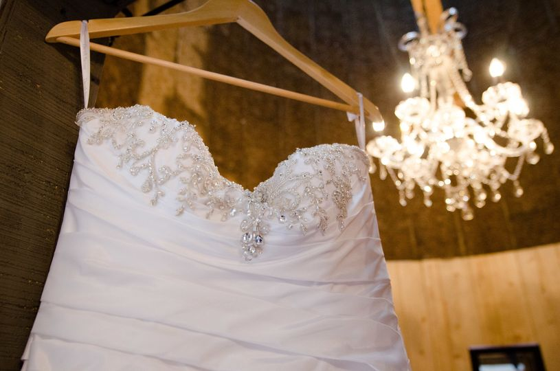 Bride's gown in our silo!
