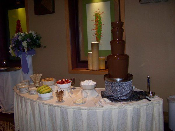 Coco Loco Chocolate Fountain at Anthem Country Club wedding
