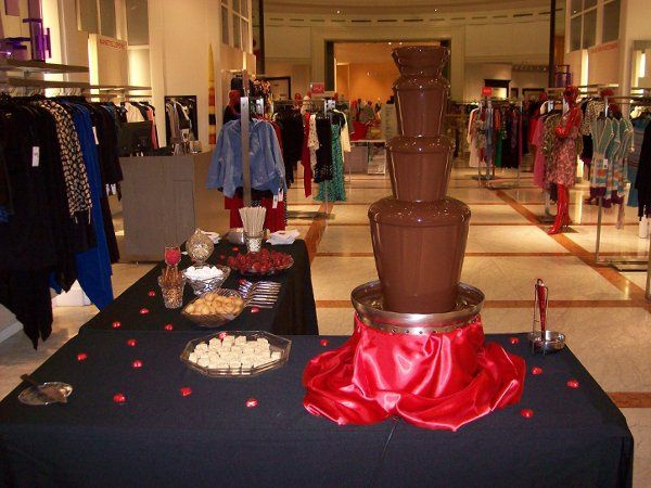 Coco Loco Chocolate Fountain at Saks Fifth Avenue for Amare Stoudemires' NBA Party