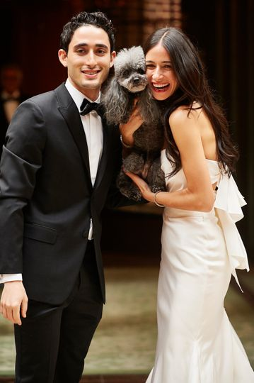 Bride & Groom plus Pup!