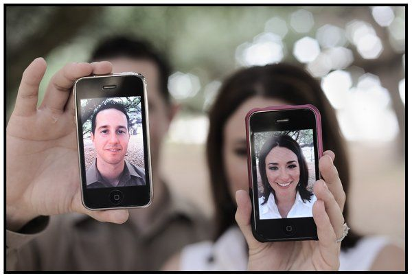 Modern Engagement Photo, Fun with the iPhone
