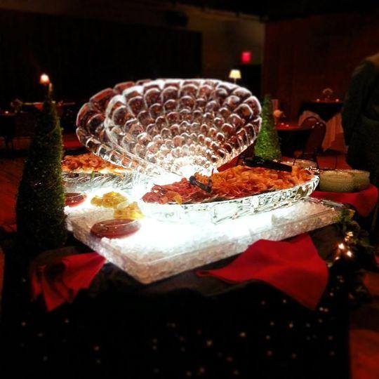seafood ice sculpture 1