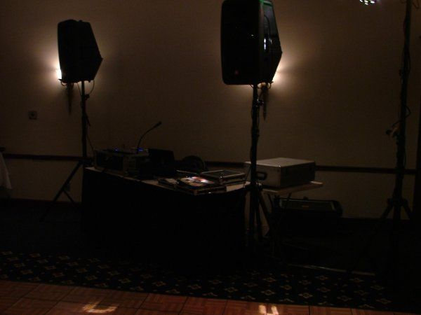 Setup at the Holiday Inn in downtown South Bend