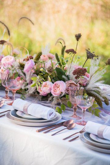 Blush outdoor wedding wedding,