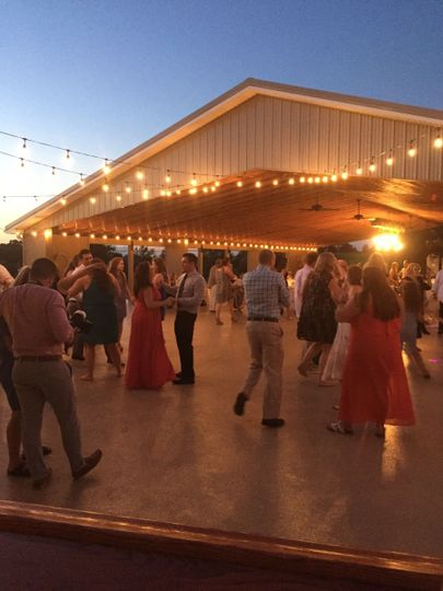 Dance beneath the stars on our outdoor dance floor