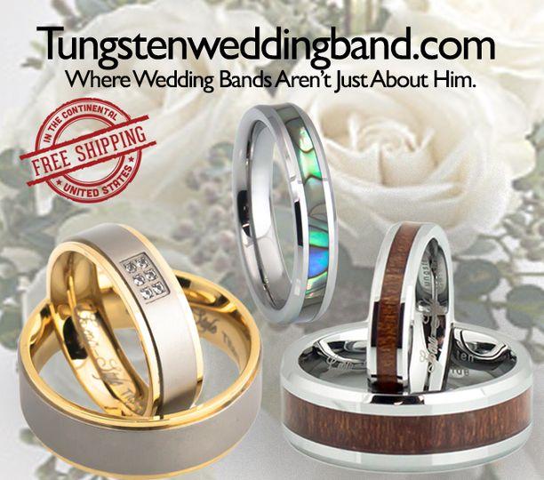 d4f1c2237359bb44 Tungsten Wedding Band Banner wedding wire