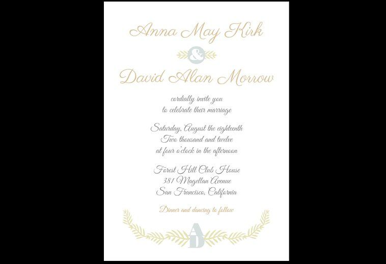 Love Branches Out Invitation