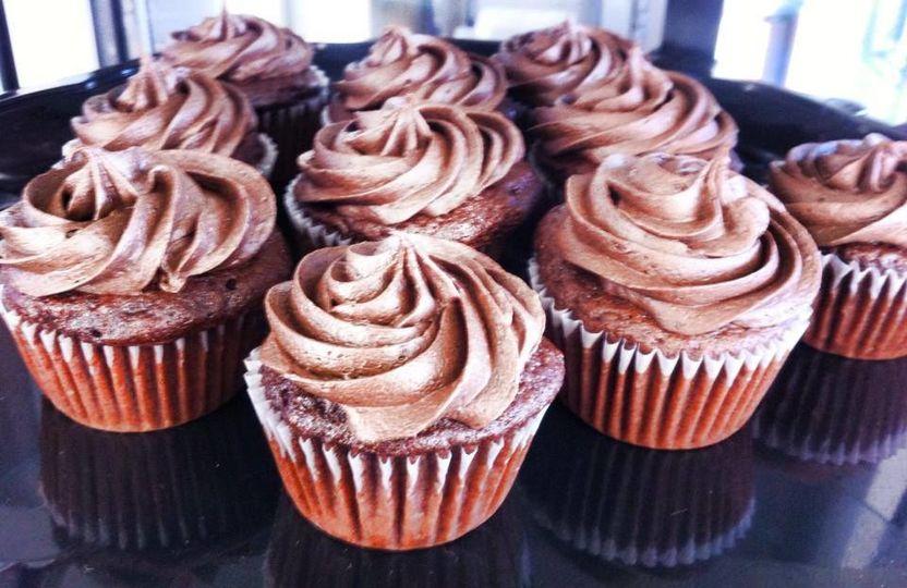 Mocha chocolate cupcakes