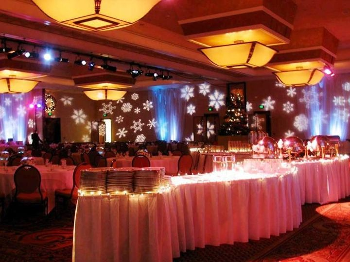 Tmx Ame Christmas Holiday Party Up Lighting Decor And Snow Flake Gobo Projection 3 51 90298 1561510495 Manvel, TX wedding photography