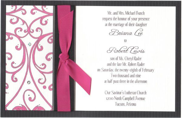 One of a kind invite created just for Briana and Robert considering all of their design desires!