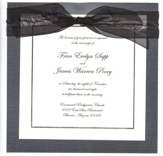 Have a witty saying you want to include in you invite?  This unique invite elegantly incluses that!