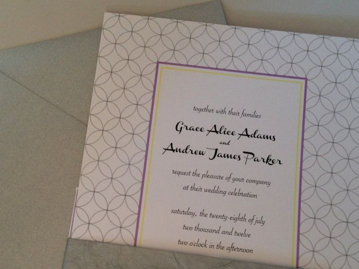 Tmx 1360159927116 Circles2 Stratford wedding invitation