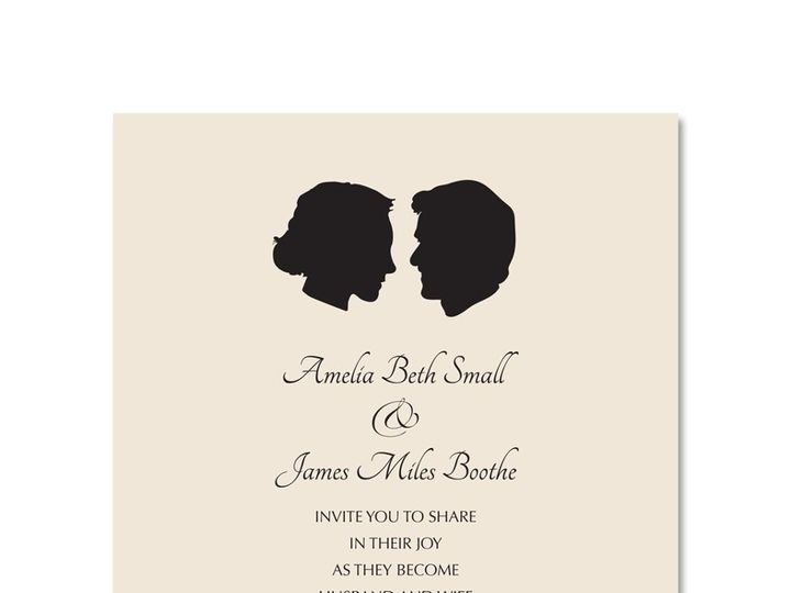 Tmx 1360160024007 Silhouette1 Stratford wedding invitation