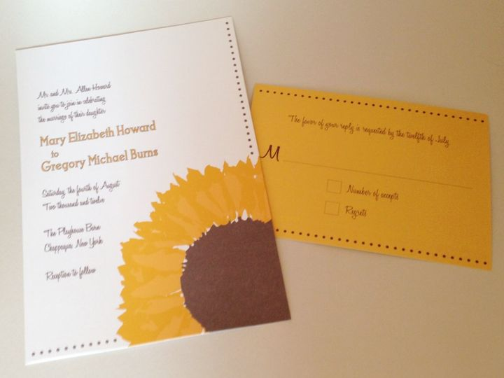 Tmx 1360160044823 Sunflower Stratford wedding invitation