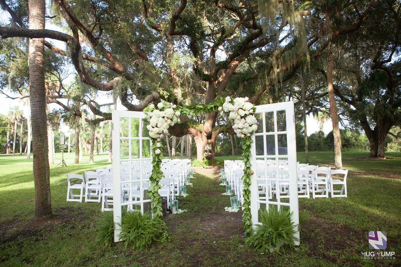 Rustic wedding doors