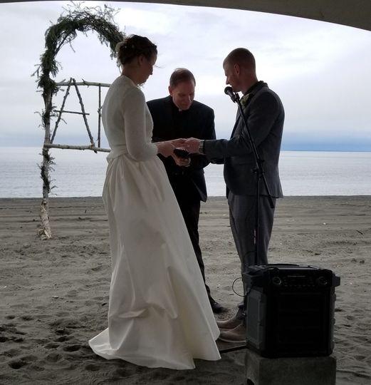 Wedding on the beach in Kenai