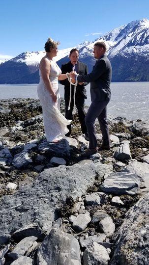 Wedding at Bird Point AK