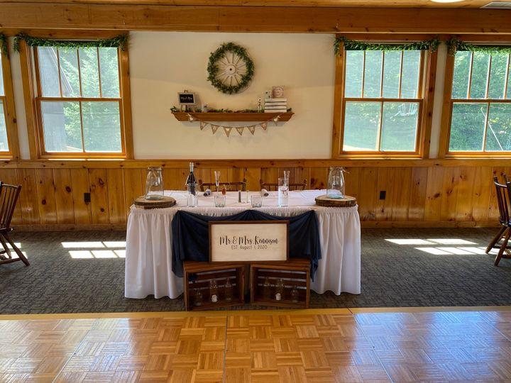 Valley room head table