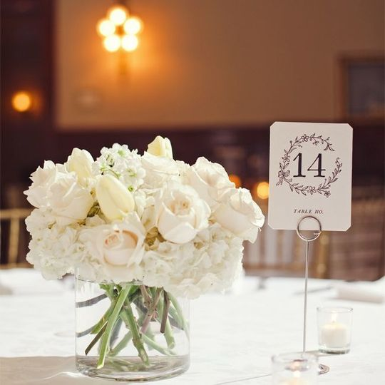 White roses centerpiece