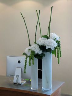 Modern and tall flower decoration